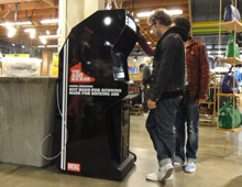 "Diesel ""Be Stupid"" arcade cabinets"