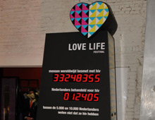 Love Life Festival LED counter