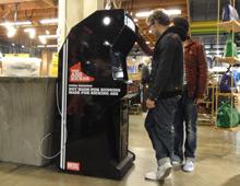 "Diesel ""Be Stupid"" arcade cabinets"