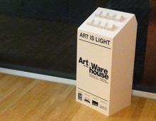 Art at the Warehouse installation